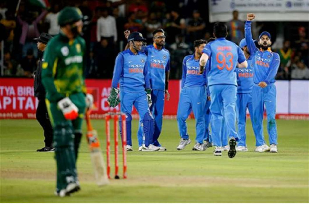 indian teams create history india captured series to beaten south africa by 73 runs