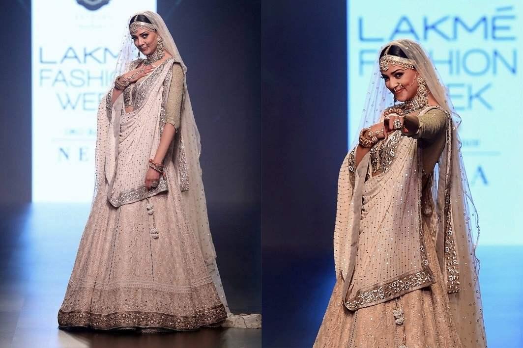 Lakme Fashion Week 2018: Sushmita Strikes on Ramp from her Bridal Look