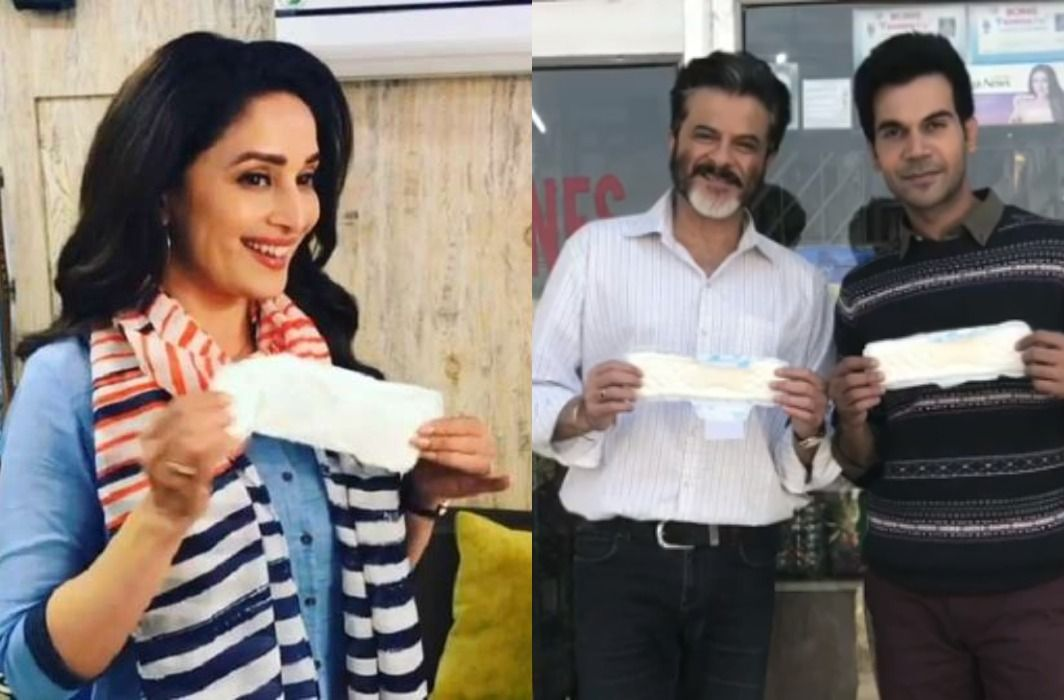 Madhuri Dixit has gives Padman Challenge to Akshay