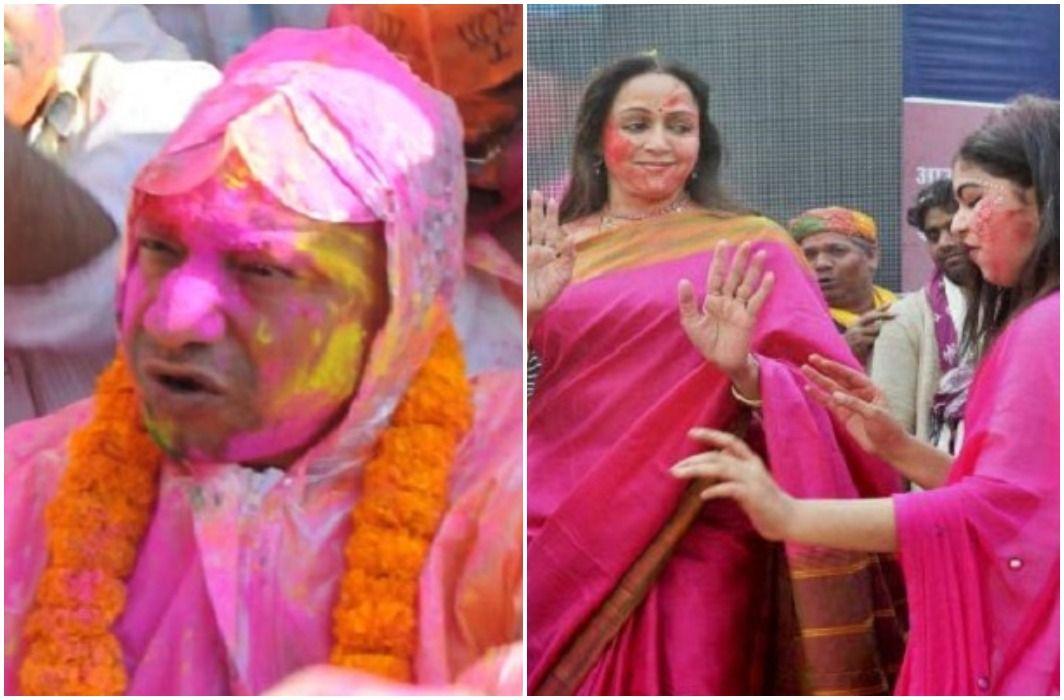 Yogi has reached to enjoy Lath mar Holi, Said- Everyone has the right to express their faith