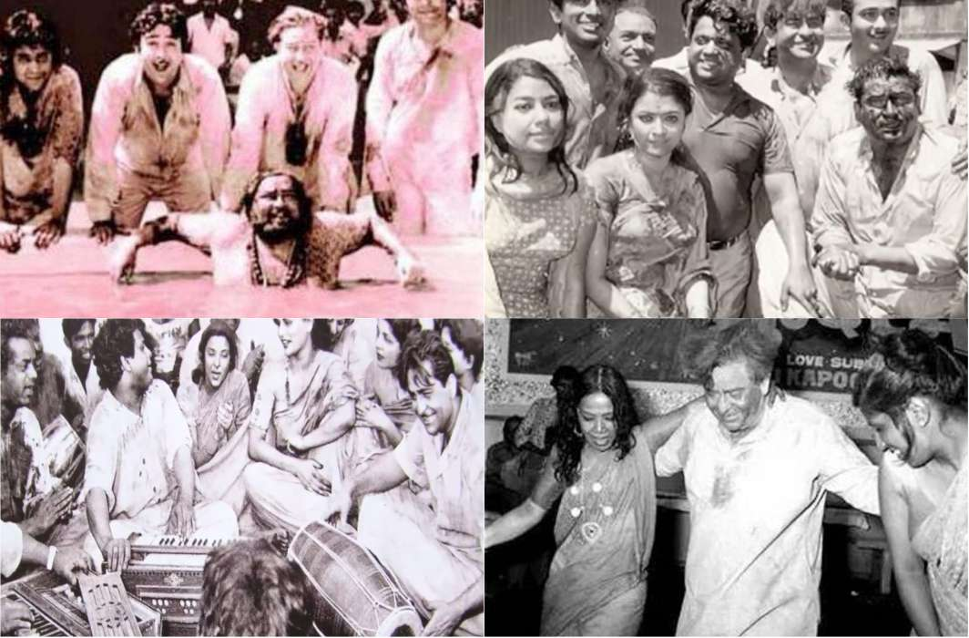 Amitabh Bachchan showed his talent in Holi of RK Studios