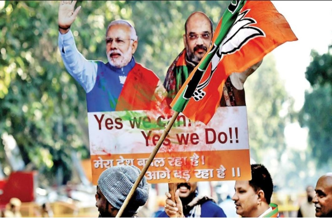 "Bjp In the initial trends of the post-election elections and 25 years old ""Red Fort"" collapsed in Tripura"
