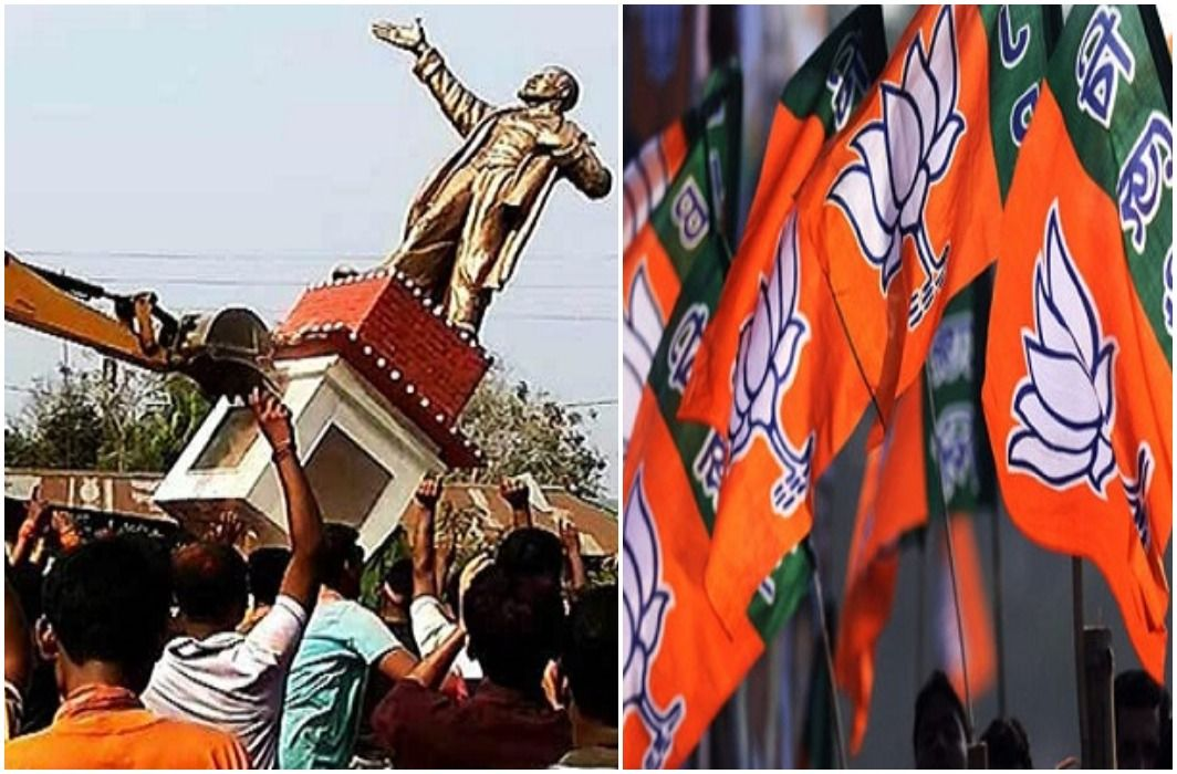 BJP won Tripura election, statue of Lenin demolished,   Violence extending all around