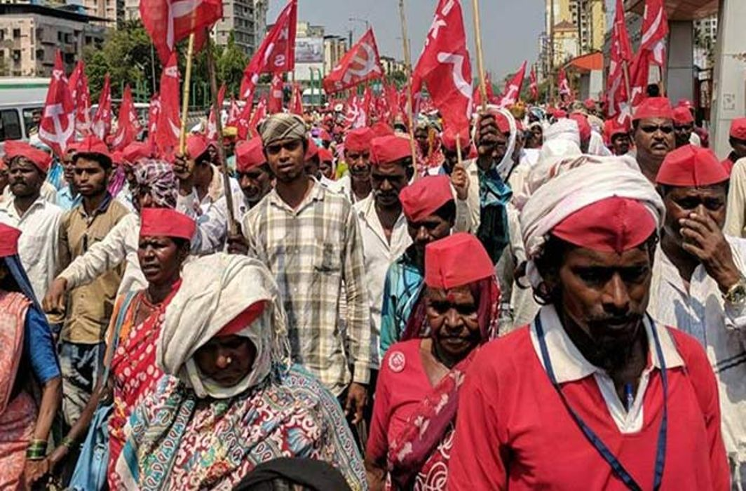 30 thousand farmers landed on the roads