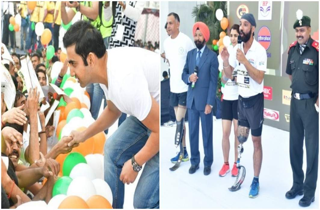 The beginning of the first edition of the Soldierthan event in honor of the soldiers, Gambhir and Kaif also included