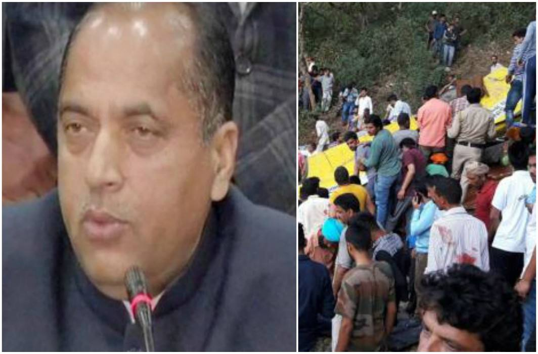 CM Jairam orders magisterial inquiry into school bus accident in Himachal Pradesh