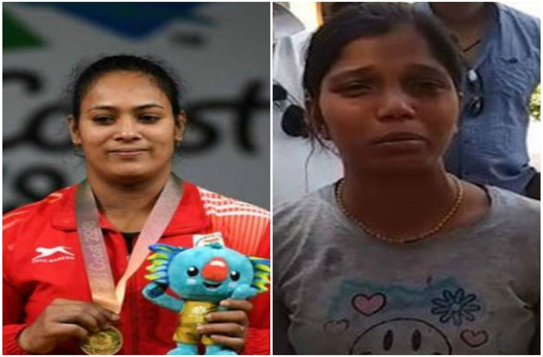 Neighbors attacked on Commonwealth Games Gold Medalist Weightlifter 'Poonam Yadav' by brick stone