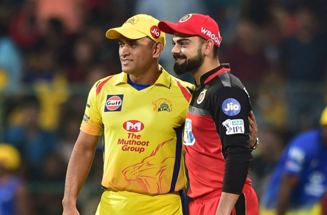 Kohli and Dhoni, who were face-to-face in the field, see the reaction of Anushka and Sakshi