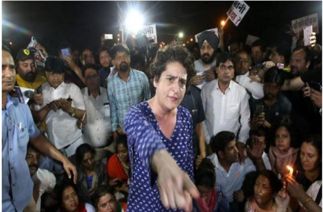 Priyanka in Rahul Gandhi's Midnight March, Said - Those who want to do this should go home