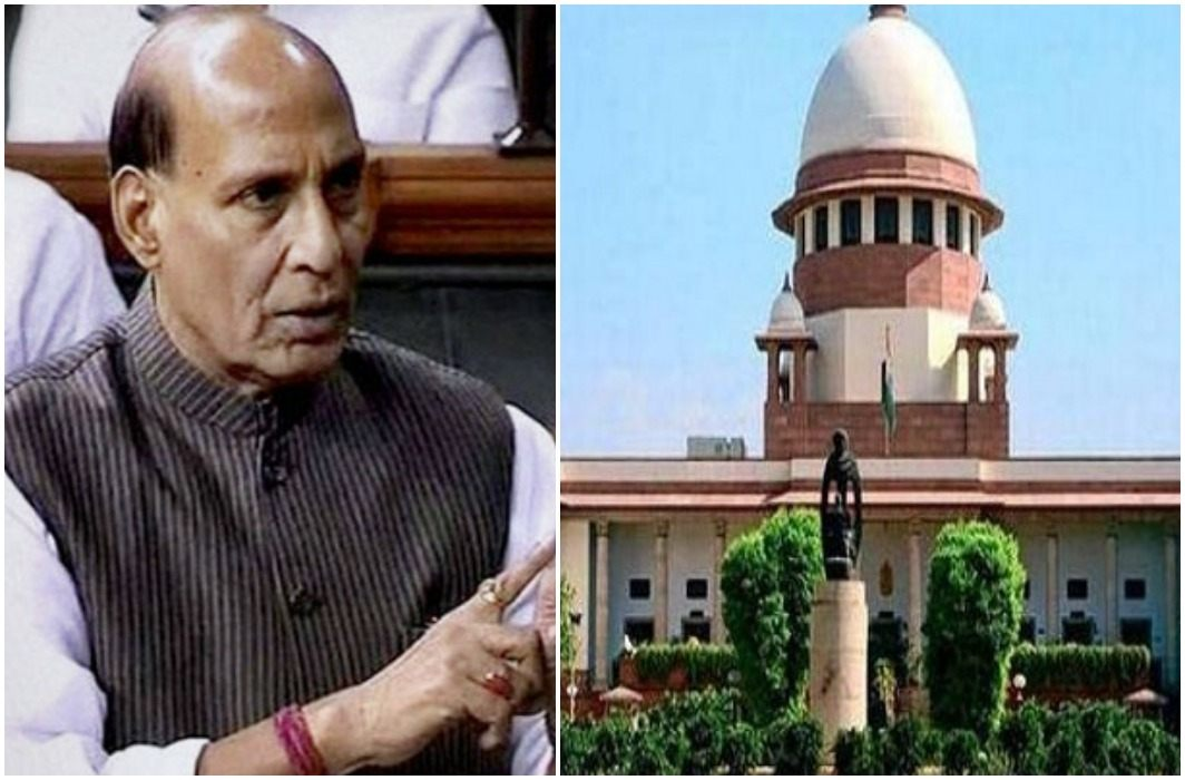 In the Lok Sabha, Rajnath Singh kept her debates the government's favor