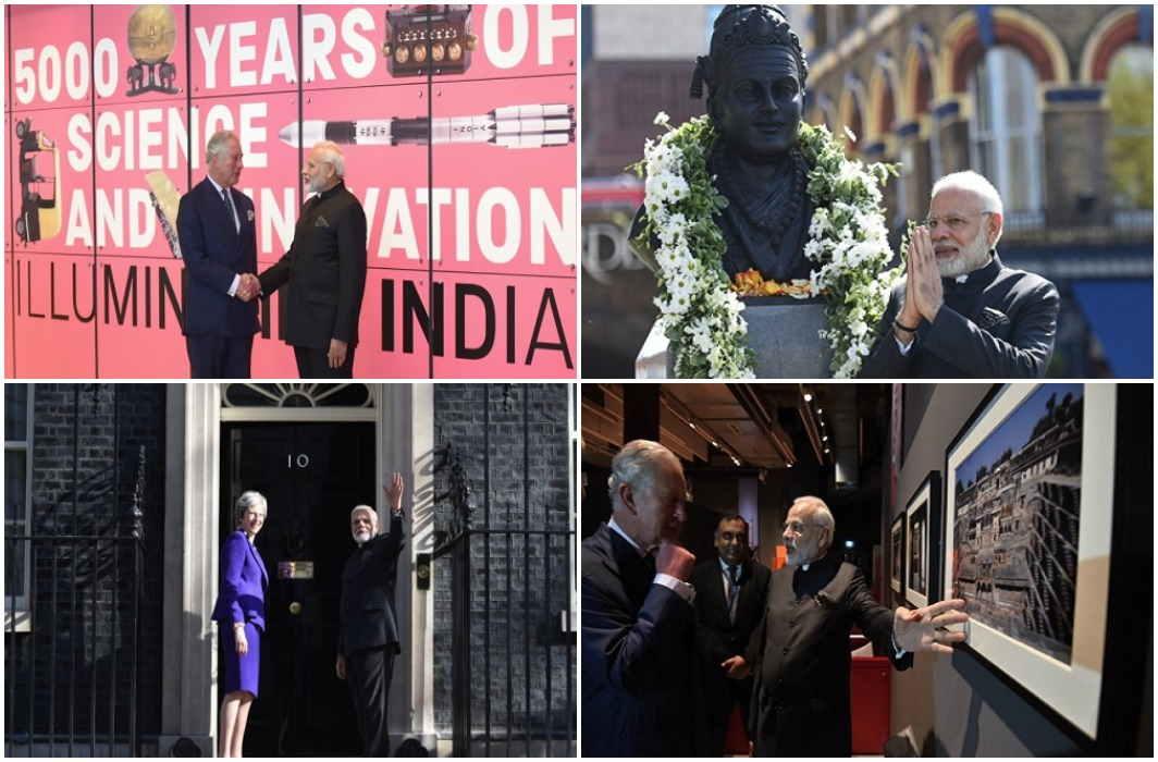 PM Modi met Prince Charles and Teresa and took the blessing of Lingayat Guru Basaveshwar