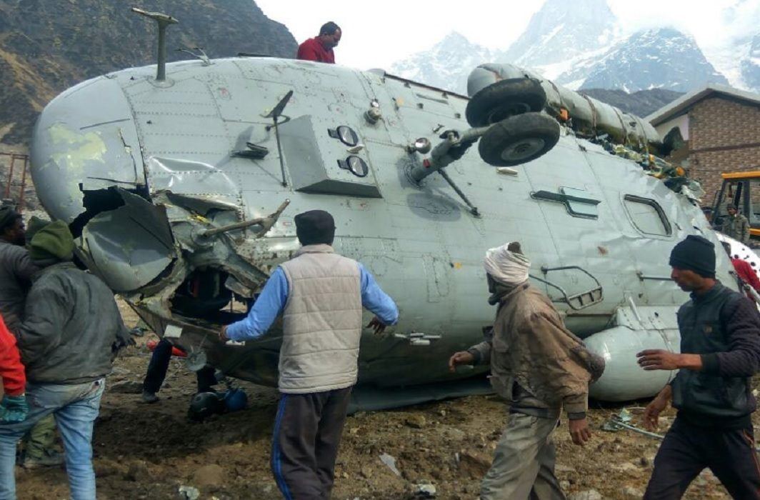 Air Force helicopter crash in Kedarnath, accident Happened at time of landing