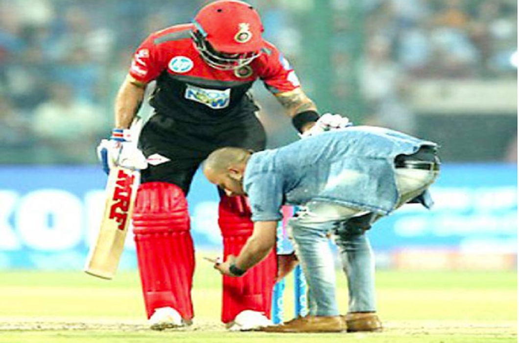 By breaking the security scope, Kohli fits into his feet