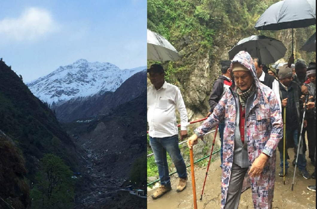 Many leaders including former chief minister Harish Rawat, stranded in Kedarnath