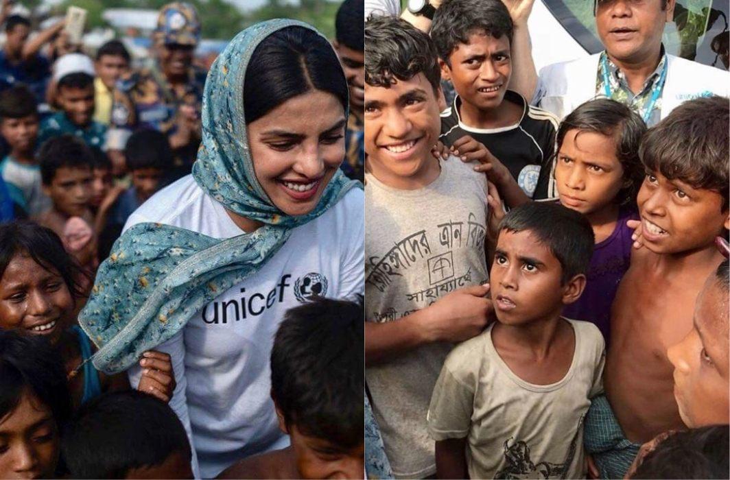 Priyanka Chopra has goes to Rohingya refugees camp, trolled