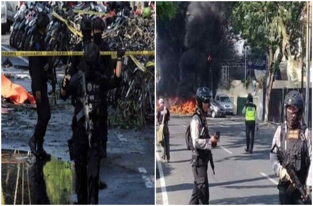 Terrorist attack on Indonesia's three churches, 9 killed, 13 wounded