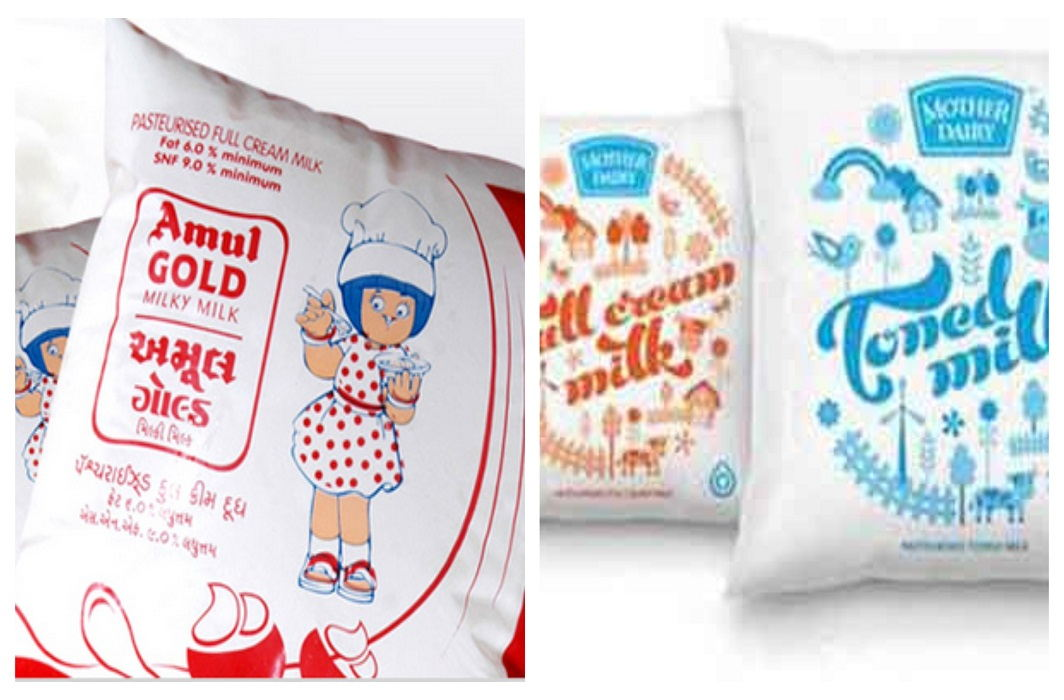 careful! Amul and Mother Dairy milk are not safe, Found mixed
