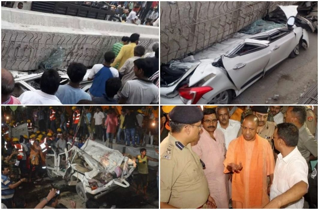under construction flyovers has collapsed in Varanasi