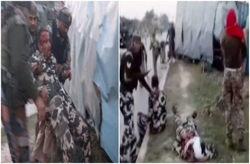 van loaded with army has accident due to stone Peltings, 20 injured