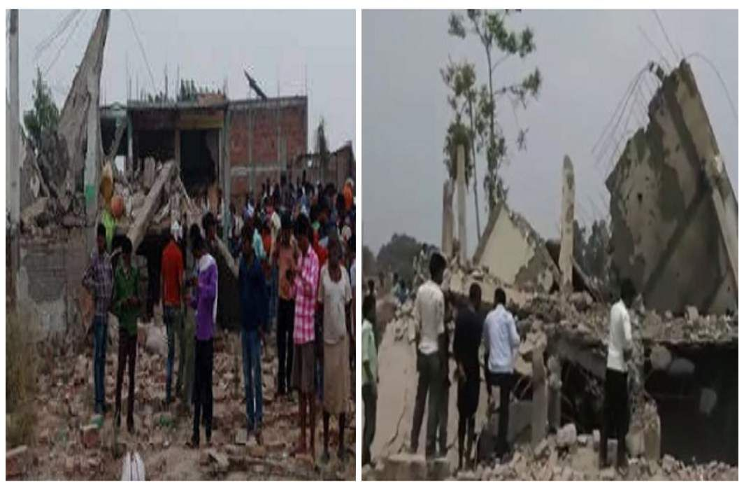 Four houses collapsed in Kakori in Lucknow, Two killed, many injured