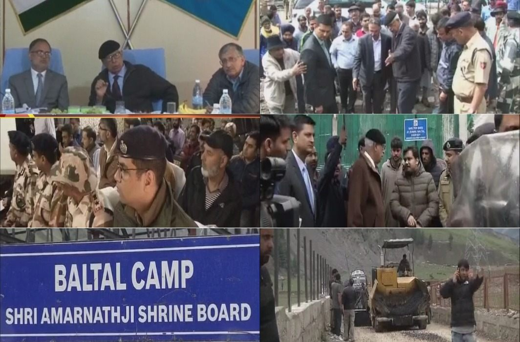 Governor Vohra inspected the Amarnath yatra arrangements