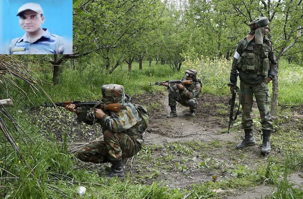 In the country's defense, Lal Manvendra  Martyrs of Uttarakhand, Martyrs taking blood from terrorists