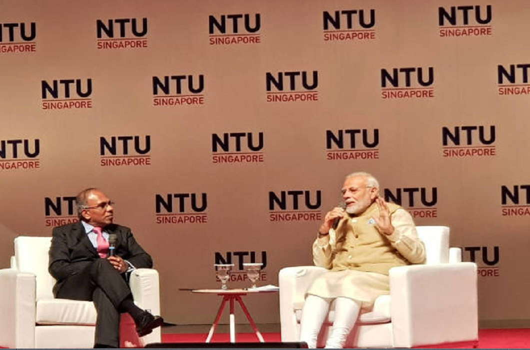 PM Modi Speak in Singapore and said No leave took even for 15 minutes since 2001 till now