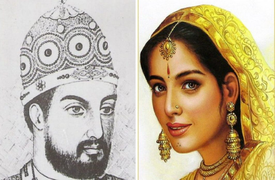 Replacement history in Rajasthan book,removed to see Rani Padmini in glass by the Khilji