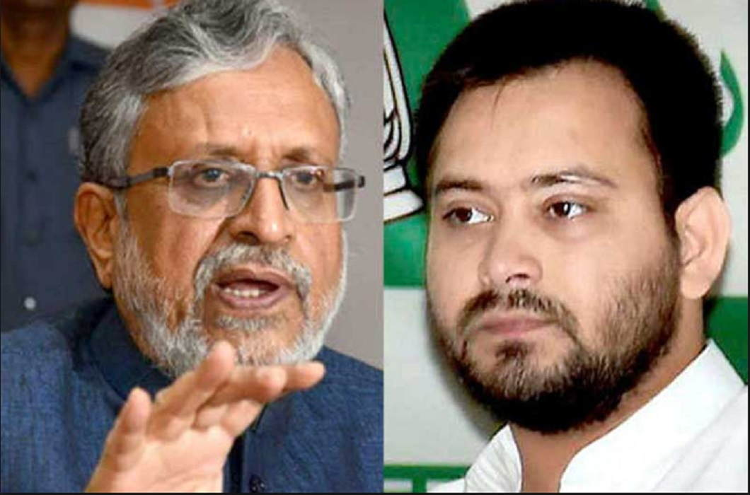 Accusations on Tejaswi yadav of Sushil Modi and Hiding your iron business