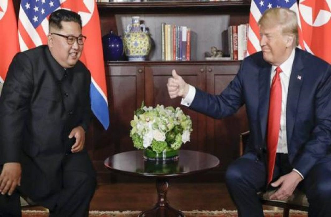 meet Two of the biggest enemies Kim and Trump