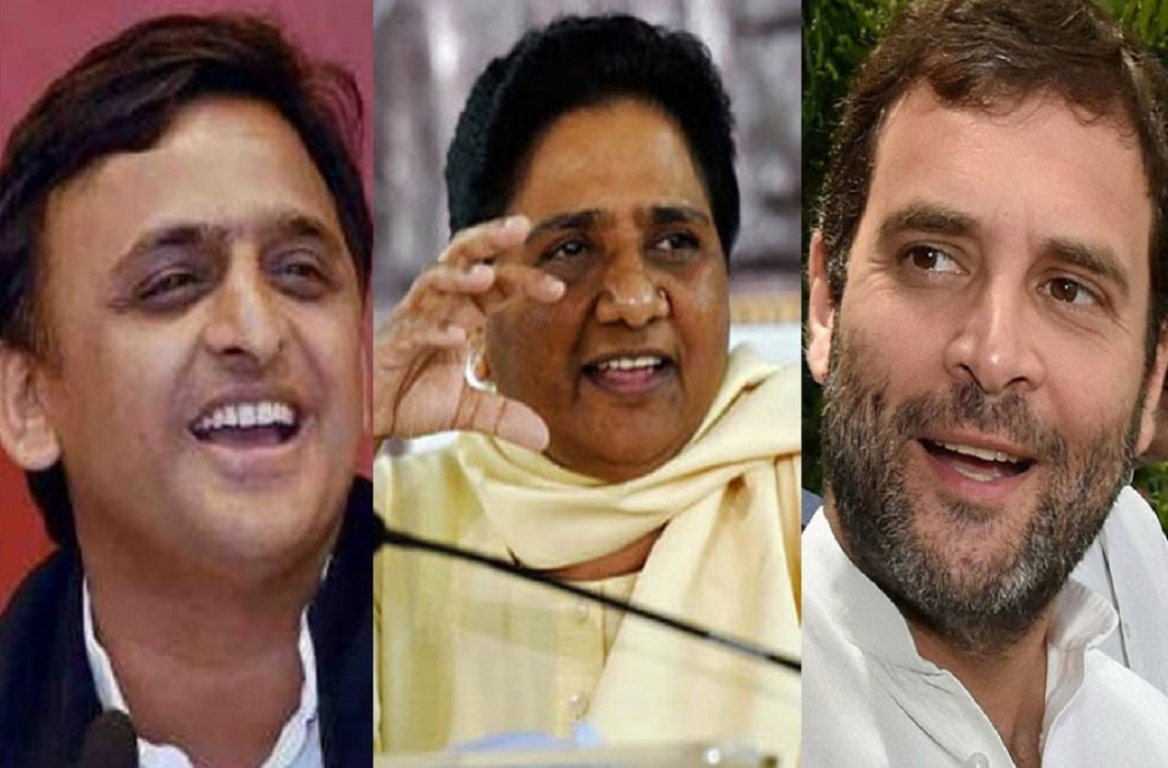 Congress, SP, BSP, and RLD, gathered for the Lok Sabha elections, BJP's fight against coalition