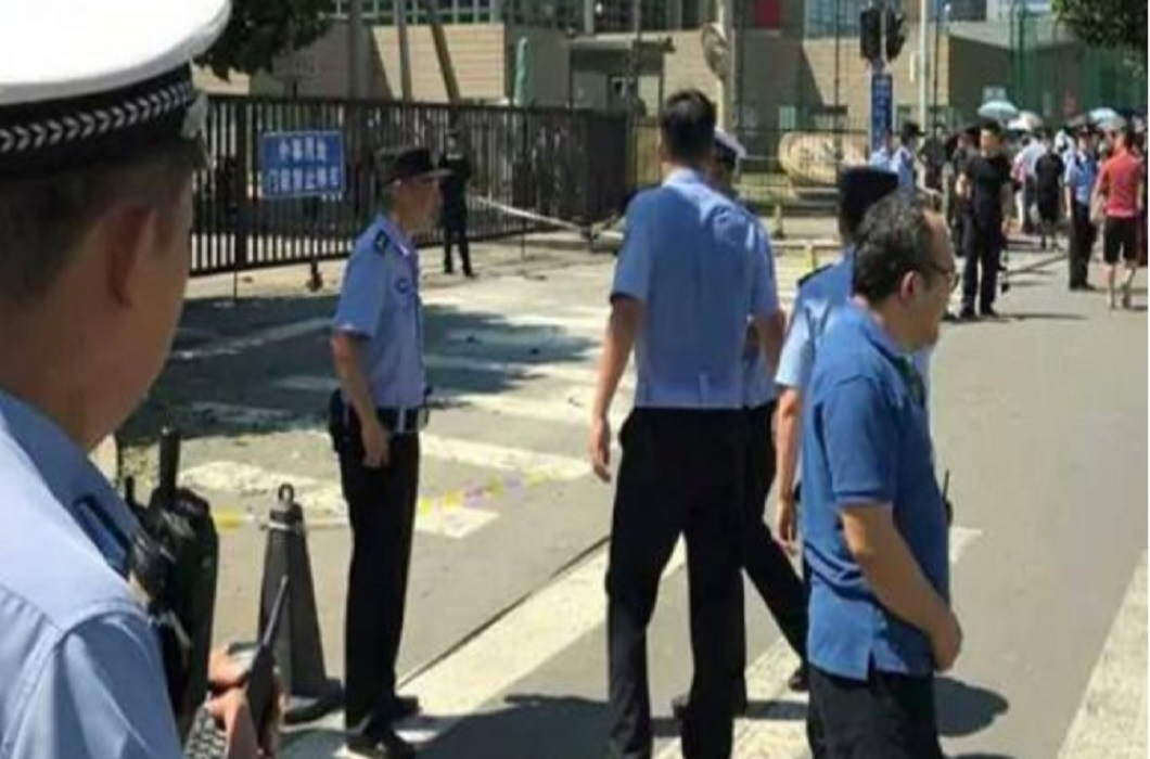 Explosion Near the Indian embassy In china and Police arrested one person