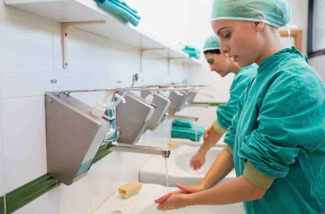 Hospital's employees are extremely lazy in case of hand washing after treatment