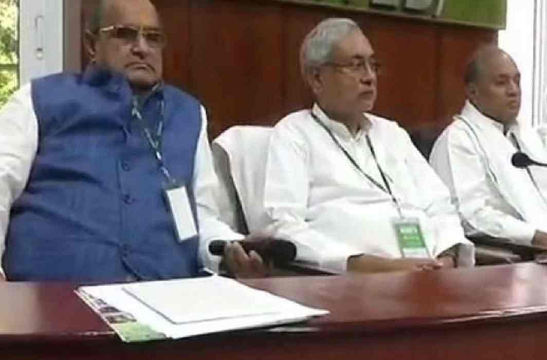 JDU's national executive meeting today, Considering retaining alliance with BJP