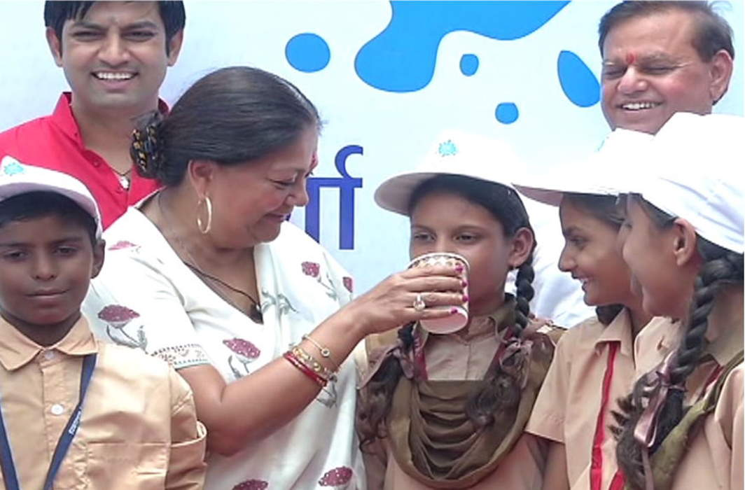 Rajasthan is the first state to launch milk scheme in schools