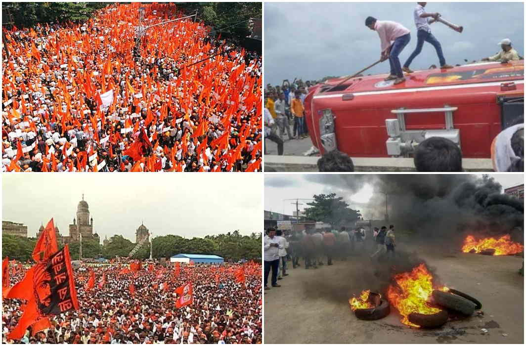 fire of reservation in Mumbai, protest furious, Demolition continued