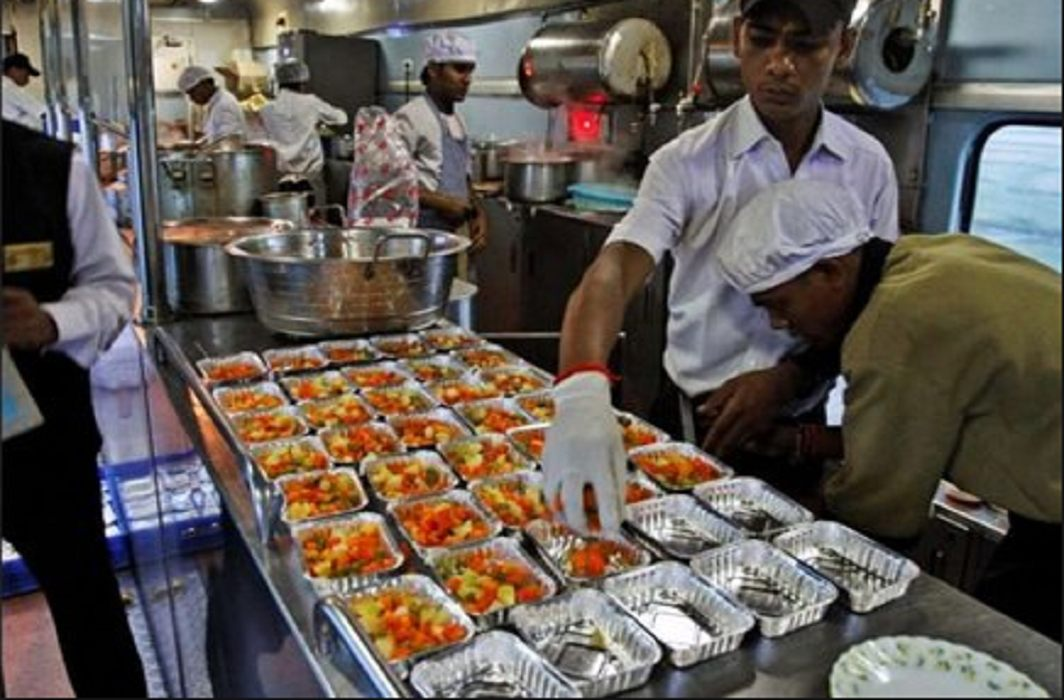 how food gets prepared in the train,can see  Live view on IRCTC