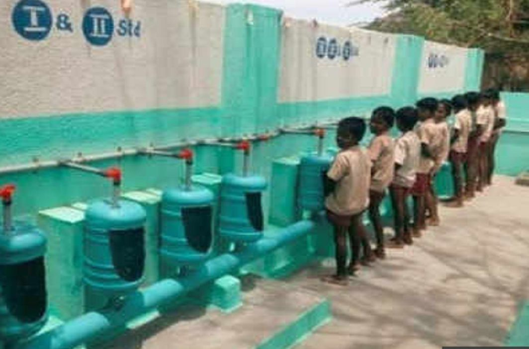 urinal from water cans