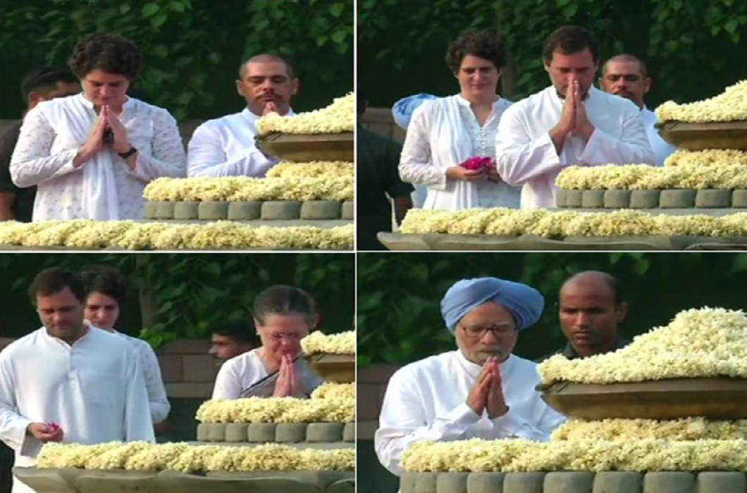 Many leaders including Sonia and Rahul gave tribute to Rajiv Gandhi On the 74th birth anniversary