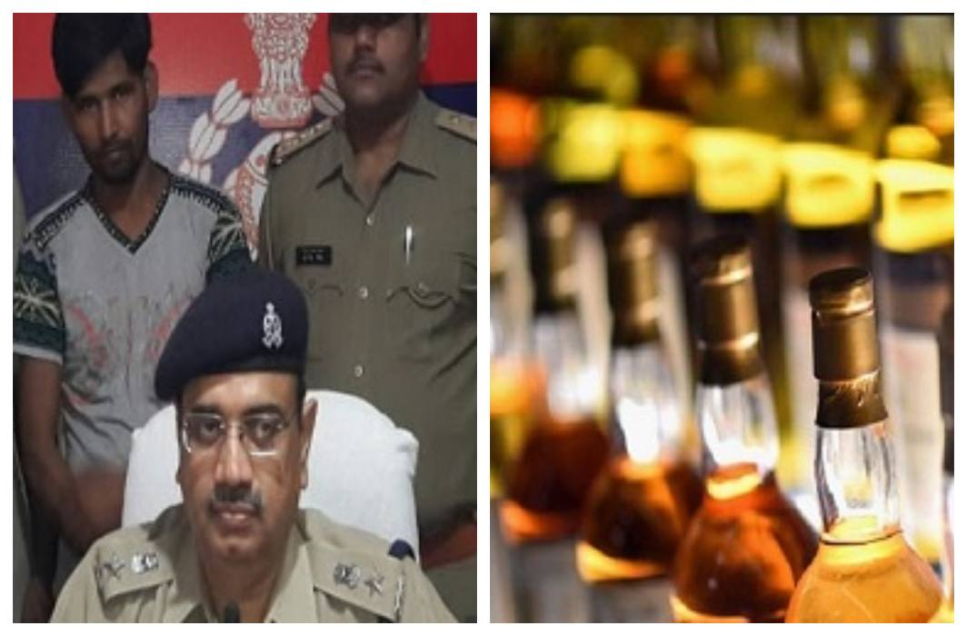 The success of Bihar Police,654 wine bottles recovered from Mirzapur