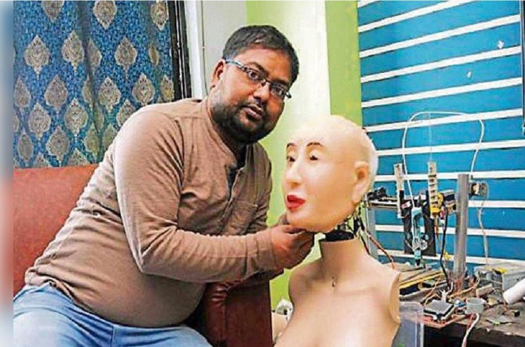 first time created humanoid robot Rashmi in India, Speaks Hindi with Bhojpuri