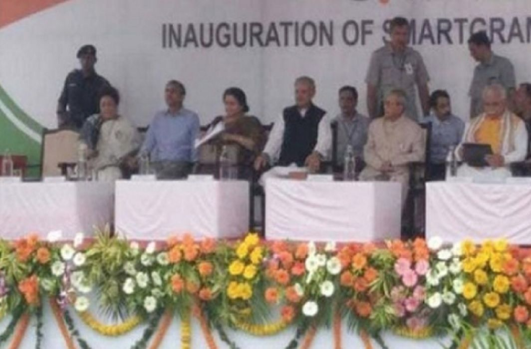 After the RSS, President Pranab Mukherjee arrived in the BJP program, inaugurated several projects