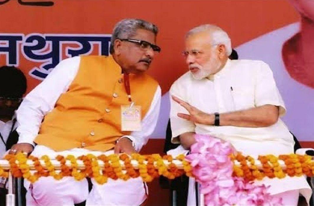 Om Prakash Mathur & Narendra Modi