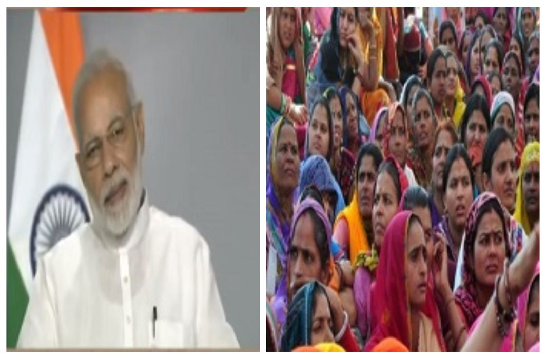 PM Modi interacts with Anganwadi workers