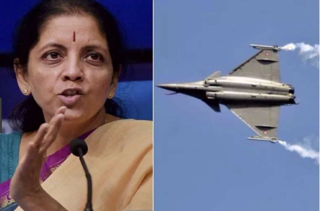 "Sitharaman's attack On Congress On rafael deal and said ""Rahul's entire family thief"""