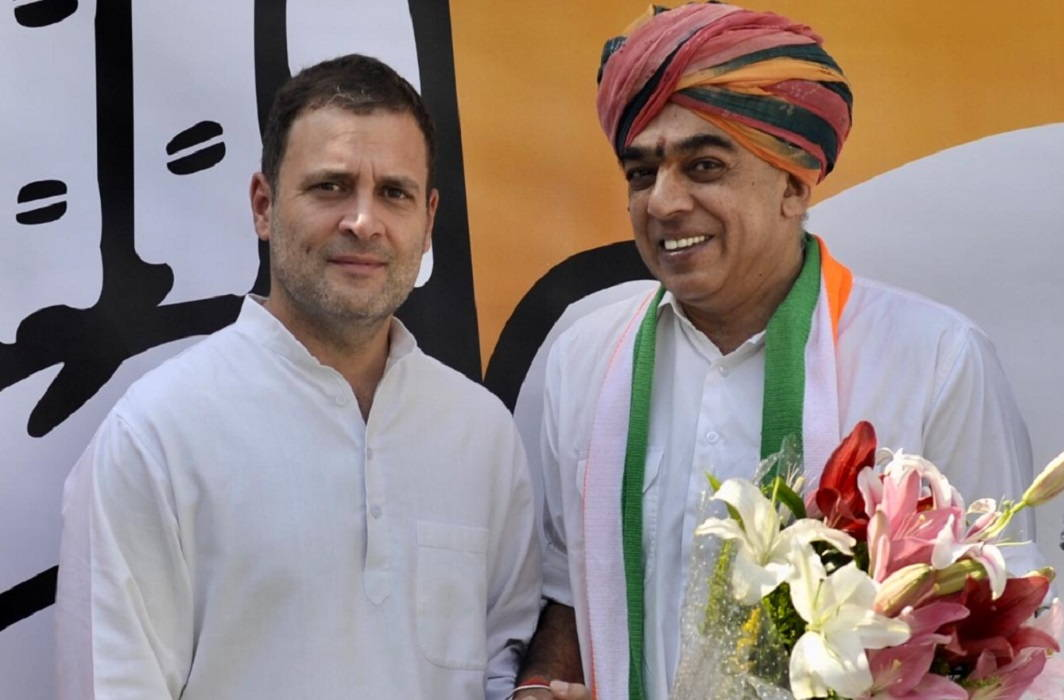 Jaswant's son MLA Manvendra joins Congress In Rajasthan