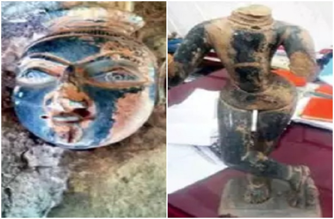 Lord Krishna's 1000-year-old statue found in Indore.