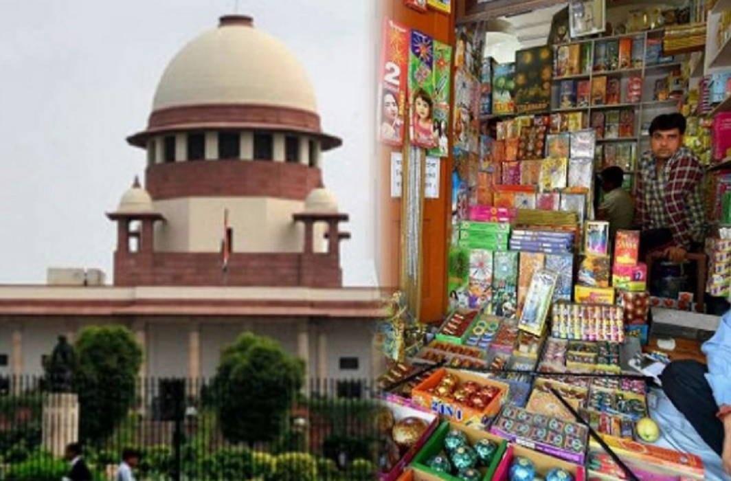 Supreme court said No ban on firecrackers but online selling banned