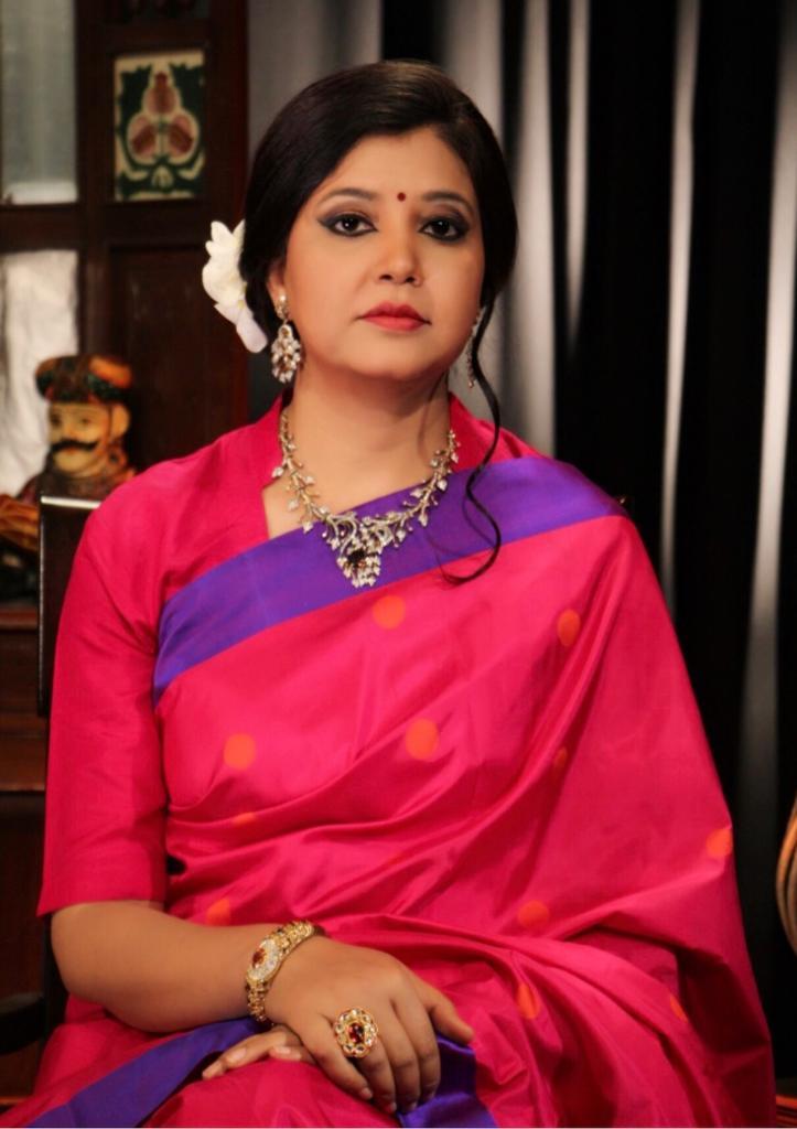 Thread work On silk sarees