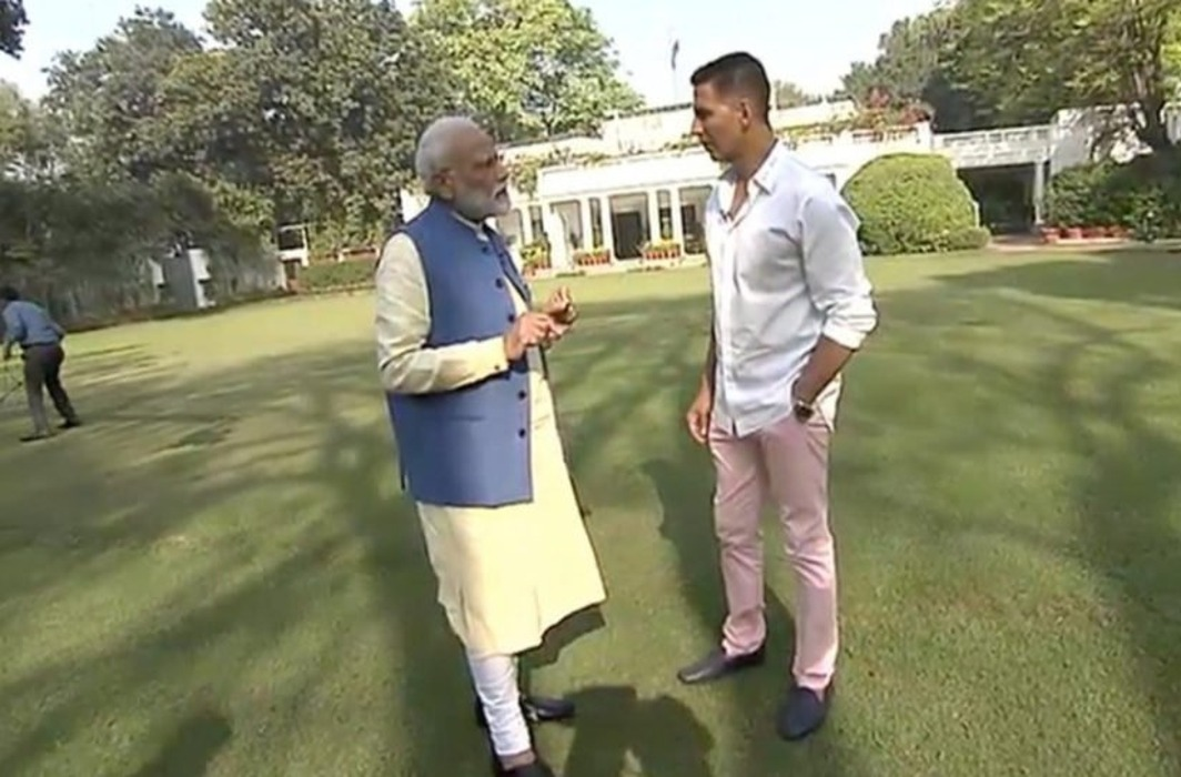 pm modi akshay kumar interview